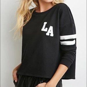 Forever 21 LA Cropped Sweatshirt